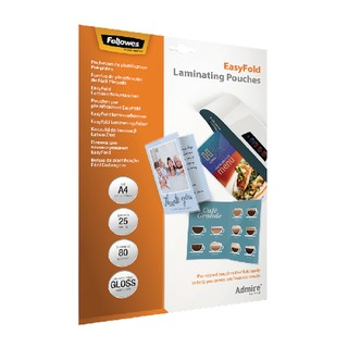 Admire EasyFold A4 Laminating Pouches 160 Micron (25 Pack) 5601901