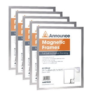 Magnetic Frames A3 Silver (5 Pack)