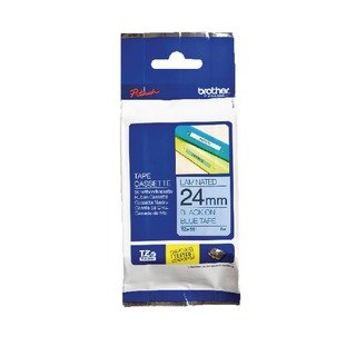 24mm Black on Blue TZE551 P-Touch Labelling Tape