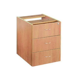 Beech 3 Drawer Fixed Pedestal