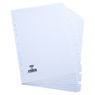 A4 10 Part 160gsm White Dividers 100204881