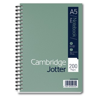 A5 Wirebound Notebook Ruled 200 Pages (3 Pack) 4