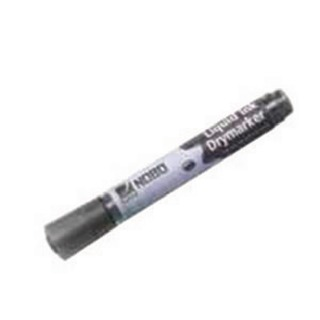 Liquid Ink Dry Wipe Marker Bullet Tip Black (12 Pack) 1901073