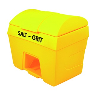 Salt and Grit Bin With Hopper Feed 400 Litre Yellow 317071