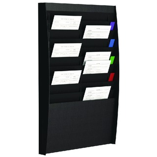 A4 Document Control Panel 20 Compartments Black V210.