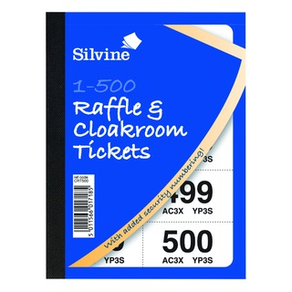 Cloakroom and Raffle Tickets 1-500 (12 Pack) CRT5