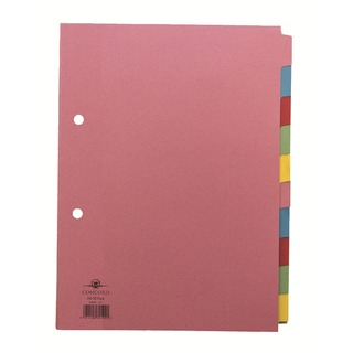 Divider A5 10-Part Assorted