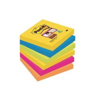 Post-it 76 x 76mm Rio Super Sticky Notes (6 Pack) 654-6SS-RIO-EU