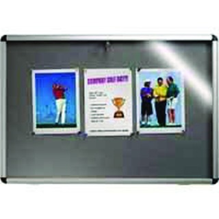 Lockable Visual Insert Board 1265 x 965mm Grey