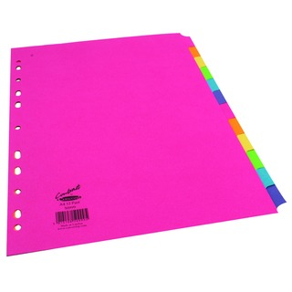 Bright A4 12-Part Subject Dividers (1 Set of 12 Pack)