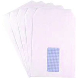 C5 Window Envelope 90gsm Self Seal White (500 Pack)