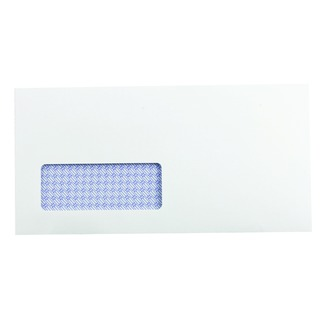 DL Window Envelope 100gsm Self Seal Recycled White (500 Pack)