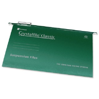 Crystalfile Classic Suspension File Complete A4 Green (50 Pack)