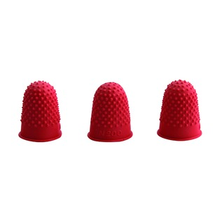 Red Rubber Thimblettes Size 00 (12 Pack)