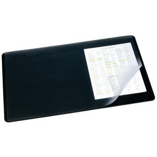 Black Desk Mat With Transparent Overlay 520x650mm 7203/