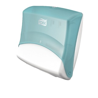Folded Wiper Cloth Dispenser W4 Turquoise and White 65