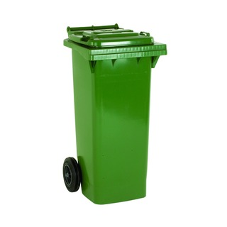 2 Wheel Green Refuse Container 140 Litre 33