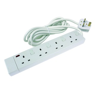 4-WAY SWITCH EXTENSION LEAD WHITE CEDTS4213IS