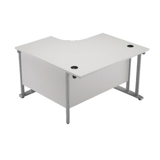 1200mm LH Cantilever Radial Desk Beech