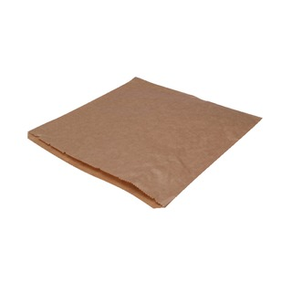 Dependable Ribbed Kraft Bags Strung 250x250mm Brown (1000 Pack) 201204S