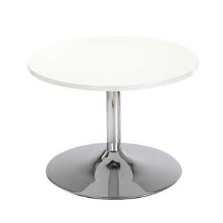 White Low Bistro Table With Trumpet Base