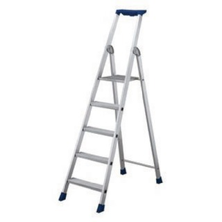 6 Ribbed Tread Platform Step Ladder Aluminium 35875