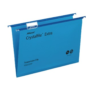 Crystalfile Extra Suspension File Foolscap Blue (25 Pack)
