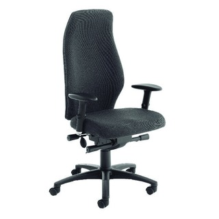 Black Super Deluxe Extra High Back Posture Chair