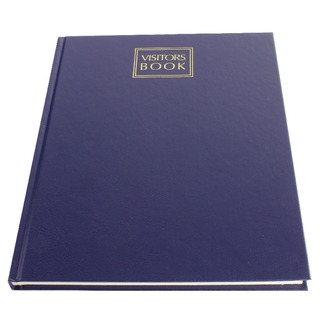 Visitors Book Leathergrain 192 Pages