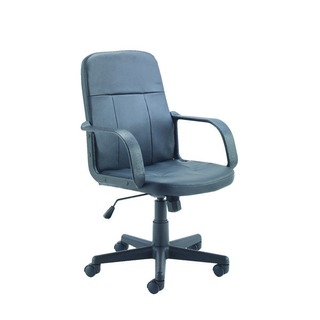 Trent Leather Look Black Chair