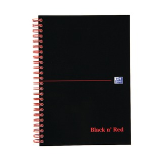 ' Red A5 Wirebound Hardback A-Z Indexed Notebook (5 Pack) 100080194