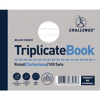 Triplicate Book Ruled Carbonless 100 Sets 105 x 130mm (5 Pack) 100080471