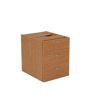 Oak 3 Drawer Fixed Pedestal