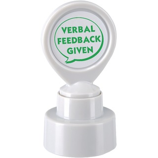 Motivational Stamp VERBAL FEEDBACK GIVEN Pre-Inked Green 14867