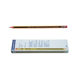 Noris 122 Pencil HB Eraser Tipped (12 Pack) 122-HBR