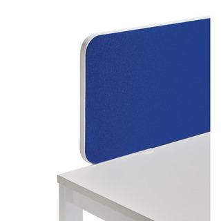 White Trim Blue 1600mm Straight Rounded Corner Screen