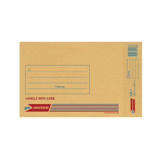 Bubble Lined Envelope Size 4 180x265mm Gold (20 Pack)