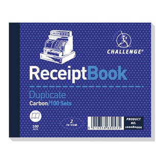 Duplicate Receipt Book Carbonless 100 Sets 105 x 130mm (5 Pack) 100080444