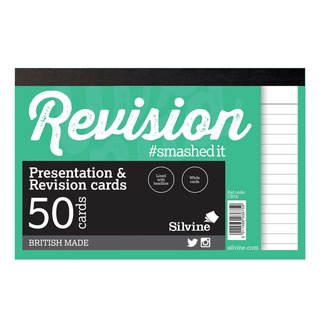 50 Revision Notecard Pad Lined White (20 Pack) CR50