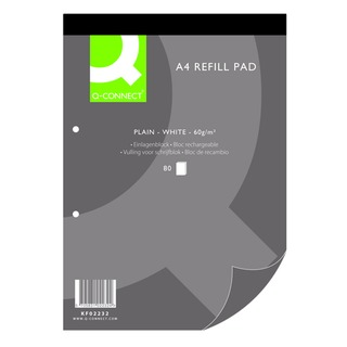 Plain A4 Refill Pad 80 leaf (10 Pack)