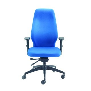 Blue Super Deluxe Extra High Back Posture Chair