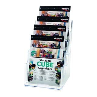 Clear A5 4-Tier Literature Holders DE779YTCRY