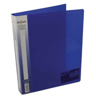 Polypropylene Ring Binder 2 Ring A4 25mm Electra Blue (10 Pack) 1015