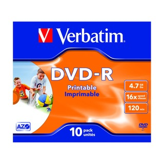 4.7GB 16x Speed Jewel Case DVD-R (10 Pack) 4