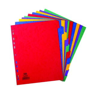 A4 Extra Wide 10 Part Pressboard Dividers 4000075