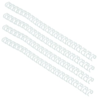 WireBind 3:1 No5 8mm A4 White Binding Wires (100 Pack) RG81057