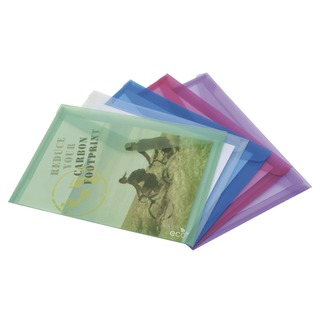 ECO A4 Assorted Popper Wallet (5 Pack) 1039