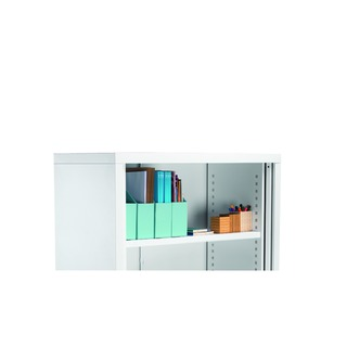 Steel Tambour Combi Shelf Silver for W1000mm