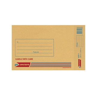 Bubble Lined Envelope Size 4 180x265mm Gold (100 Pack)