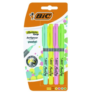 Highlighter Grip Assorted Pastel Pack of 4 964859